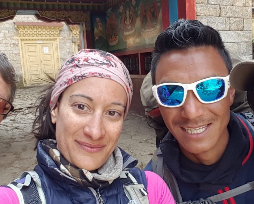 Yasmin Mirza and Gyalzen Sherpa Trekking in The Everest Region